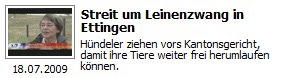 Streit um Leinenzwang in Ettingen ©  7vor7